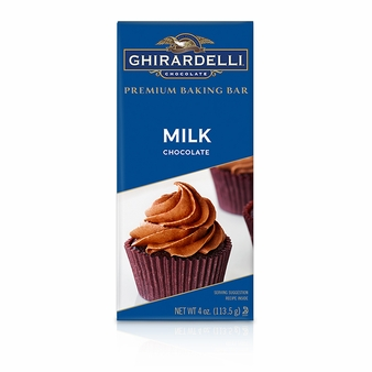 "Ghirardelli Chocolate - ""Milk Chocolate"" Premium Baking Bar, 113g/4oz. (Single)"