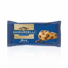 "Ghirardelli Chocolate - ""Milk Chocolate"" Premium Baking Chips, 326g/11.5oz.  (6 Pack)"
