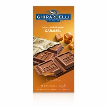 Ghirardelli Chocolate - Milk Chocolate with Caramel Filling Premier Bar, 100g/3.5oz. (6 Pack)