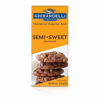 "Ghirardelli Chocolate - ""Semi-Sweet Chocolate"" Premium Baking Bar, 113g/4oz. (Single)"