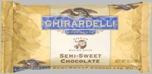 "Ghirardelli Chocolate - ""Semi-Sweet Chocolate"" Premium Baking Chips, 340g/12oz. (Single)"