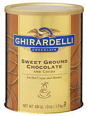 """Ghirardelli Chocolate - """"Sweet Ground Chocolate and Cocoa"""" Premium Baking Cocoa, 1.3kg/48oz. (6 Pack)"""