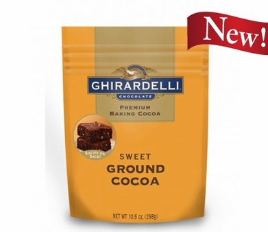 "Ghirardelli Chocolate - ""Sweet Ground Chocolate and Cocoa"" Premium Baking Cocoa, 298g/10.5oz. (Single)"
