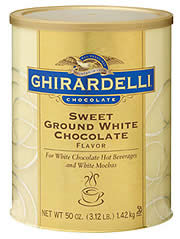 "Ghirardelli Chocolate - ""Sweet Ground White Chocolate "", 1.3kg/48oz. (6 Pack)"