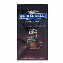 "Ghirardelli Chocolate ""Twilight Delight"" 72% Dark Chocolate Squares 4.87oz"