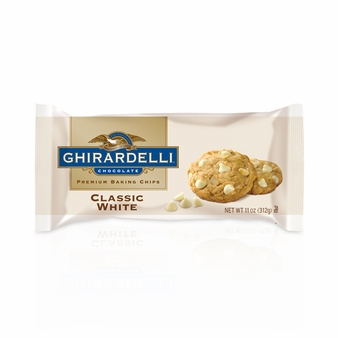 "Ghirardelli Chocolate - ""White Chocolate"" Premium Baking Chips, 312g/11oz. (Single)"