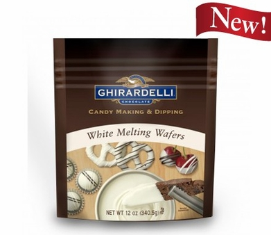 Ghirardelli Chocolate - White Melting Wafers Candy Making and Dipping 340g/12oz (6 Pack)