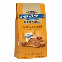 Ghirardelli Milk Chocolate & Caramel Filling Squares, 5.32oz Bag (Single)