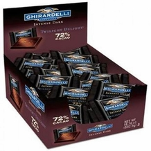 "Ghirardelli ""Twilight Delight"" 72% Dark Chocolate Squares, 50 Count Box"