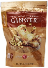 Gin Gins- Crystallized Ginger Candy, 3.5oz/100g (6 Pack)