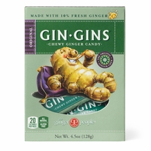 Gin Gins- Original Chewy Ginger Candy, 4oz/128g (6 Pack)