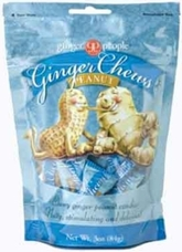 Gin Gins- Peanut Ginger Candy, 3oz/84g (6 Pack)