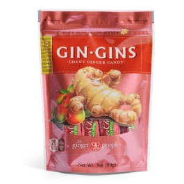 Gin Gins- Spicy Apple Ginger Candy, 3oz/84g (6 Pack)