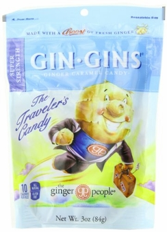 Gin Gins- Super Strength Ginger Candy, 3oz/84g (Single)