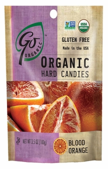 Go Organic Hard Candies- Blood Orange, 3.5oz/100g (6 Pack)