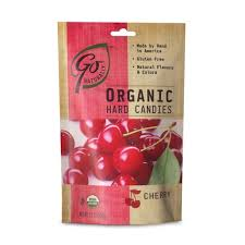 Go Organic Hard Candies- Cherry, 3.5oz/100g (6 Pack)