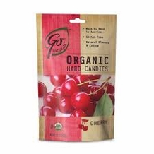 Go Organic Hard Candies- Cherry, 3.5oz/100g (Single)