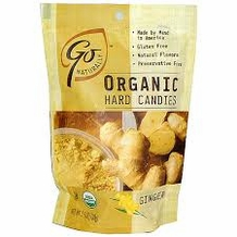 Go Organic Hard Candies- Ginger, 3.5oz/100g (6 Pack)