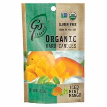 Go Organic Hard Candies- Iced Mint Mango, 3.5oz/100g (6 Pack)