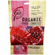 Go Organic Hard Candies- Pomegranate, 3.5oz/100g (Single)