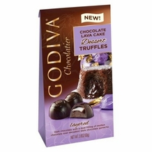 "Godiva Chocolate - 12 pc. Godiva ""Chocolate Lava Cake Dessert "" Truffle Gems, 4.3oz./122g  (Single)"