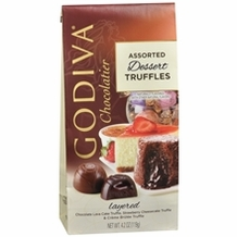 "Godiva Chocolate - 12 pc. Godiva ""Assorted Dessert Truffles"" Truffle Gems, 4.2oz./119g  (Single)"