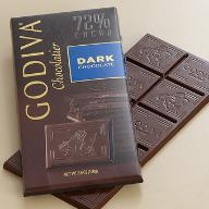 Godiva Chocolate - Dark Chocolate Bar, 72% Cocoa, 100g/3.5oz. (5 Pack)