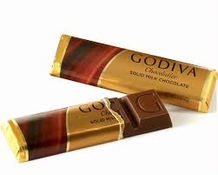 "Godiva Chocolate - ""Solid Milk Chocolate"", 43g/1.5oz. (Single)"