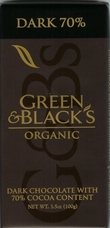 Green & Black�s Organic Chocolate - Dark Chocolate Bar, 70% cocoa, 100g/3.5oz.(5 Pack)