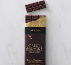 Green & Black's Organic Chocolate - Dark Chocolate Bar, 70% cocoa, 100g/3.5oz.(Single)
