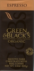 Green & Black's Organic Chocolate - Espresso Dark Chocolate, 59% Cocoa, 100g/3.5oz. (5 Pack)