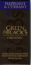 Green & Black�s Organic Chocolate - Hazelnut & Currant Bar, 100g/3.5oz.(5 Pack)