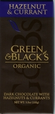 Green & Black�s Organic Chocolate - Hazelnut & Currant Bar, 100g/3.5oz. (10 Pack)