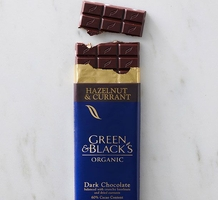 Green & Black's Organic Chocolate - Hazelnut & Currant Bar, 100g/3.5oz.(Single)
