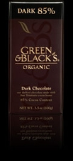 "Green & Black�s Organic Chocolate - Intense Dark Chocolate, ""85% cocoa"", 100g/3.5oz (Single)"
