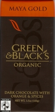 "Green & Black�s Organic Chocolate - Maya Gold ""Fair Trade"" Dark Chocolate Bar, 100g/3.5oz. (10 Pack)"