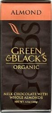 Green & Black�s Organic Chocolate - Milk Chocolate w/ Almonds Bar, 100g/3.5oz(5 Pack).