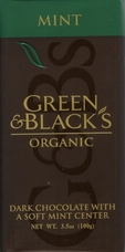 Green & Black�s Organic Chocolate - Mint & Dark Chocolate Bar 100g/3.5oz(5 Pack).
