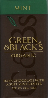 Green & Black's Organic Chocolate - Mint & Dark Chocolate Bar 100g/3.5oz(5 Pack).