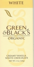 Green & Black's Organic Chocolate - White Chocolate Bar, 100g/3.5oz. (10 Pack)