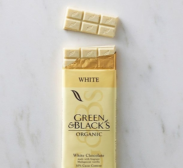 Green & Black's Organic Chocolate - White Chocolate Bar, 100g/3.5oz.(5 Pack)
