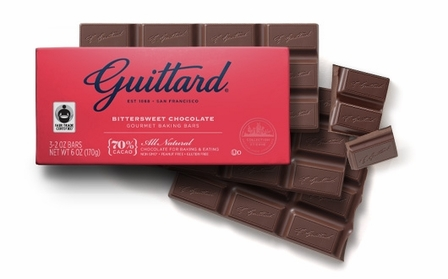 Guittard Bittersweet Chocolate Gourmet Baking Bars 70% Cocoa 3-2 oz Bars (Pack of 6)