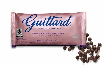 "Guittard Chocolate - ""AKOMA Extra Semisweet Chocolate Chips"", 55% Cocoa, 12oz./340g (12 Pack)"