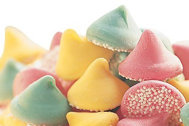 """Guittard Chocolate - """"Assorted Mint Nonpareils"""" Pink, Green and Yellow, 25 Pound Case (Single)"""