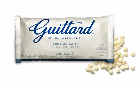 "Guittard Chocolate - ""Choc-Au-Lait"" White Chocolate Chips, 12oz./340g  (12 Pack)"