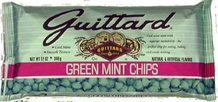 "Guittard Chocolate - ""Green Mint Chips"", 12oz./340g (Single)"