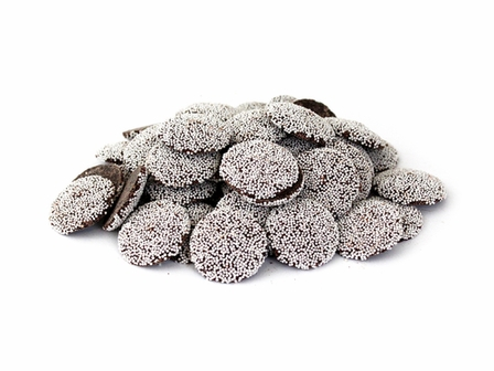 "Guittard Chocolate - ""Semisweet Dark Chocolate Wafers with Nonpareils"", Repackaged, 1 Pound Bag (Single)"