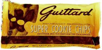 """Guittard Chocolate - """"Super Cookie Chips"""" Semisweet Chocolate, 10oz./283g(Single)"""