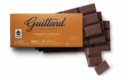 "Guittard Chocolate - ""Semisweet Chocolate Gourmet Baking Bar"", 64% Cocoa, 3-2oz Bars 6oz (170g) (Single)"