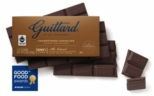 Guittard Unsweetened Chocolate Gourmet Baking Bars 100% Cocoa 3-2 oz Bars (Pack of 6)